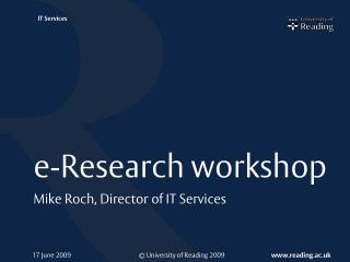 e-Research workshop