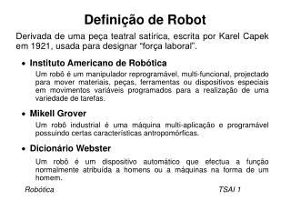 Definição de Robot
