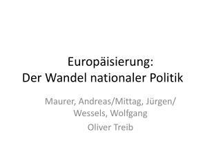 Europäisierung: Der Wandel nationaler Politik