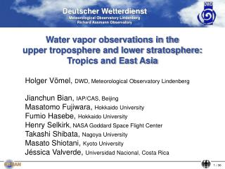 Deutscher Wetterdienst Meteorological Observatory Lindenberg  Richard Assmann Observatory