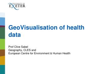 GeoVisualisation of health data