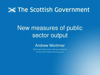 New measures of public sector output