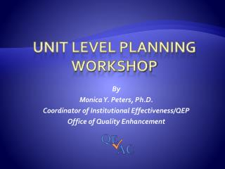 Unit Level Planning Workshop