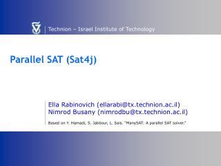 Parallel SAT (Sat4j)