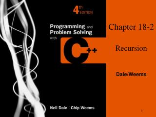 Chapter 18-2 Recursion