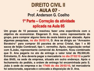 DIREITO CIVIL II -  AULA 07  -