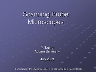 Scanning Probe Microscopes