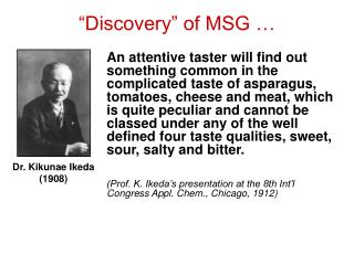 """""""Discovery"""" of MSG …"""