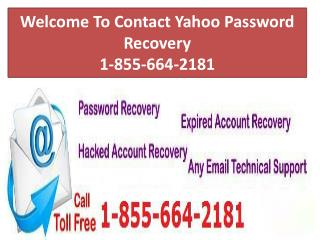 Contact Yahoo Password Recovery 1-855-664-2181