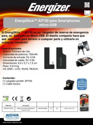 EnergiStick ™ AP750  para  Smartphones  micro-USB