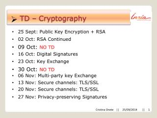 TD – Cryptography