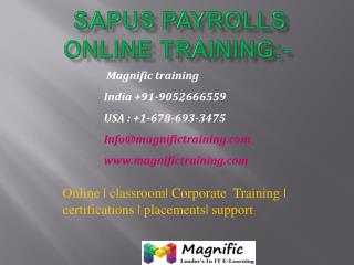 sap us payrolls online training