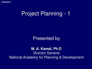 Project Planning - 1