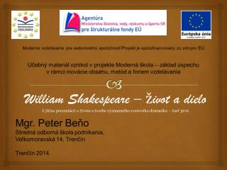 William  Shakespeare – život a dielo