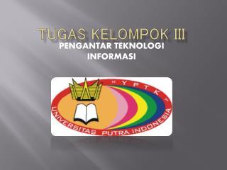 TUGAS KELOMPOK III