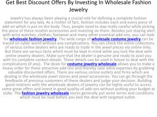 Get Best Discount Offers By Investing In Wholesale Fashion J