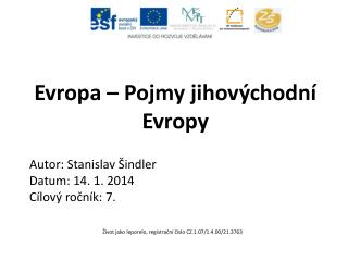 Evropa – Pojmy jihovýchodní Evropy