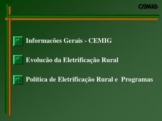 Dados CEMIG