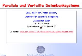 Parallele und Verteilte Datenbanksysteme