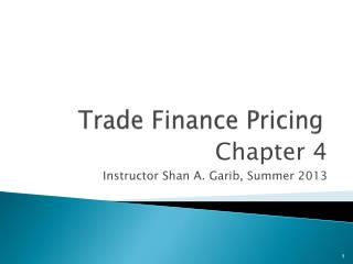 Trade Finance Pricing