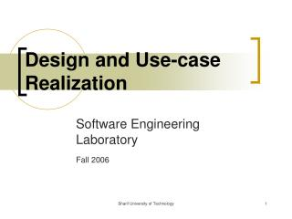 Design and Use-case Realization