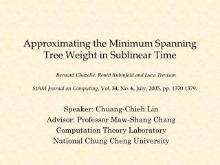 Approximating the Minimum Spanning Tree Weight in Sublinear Time