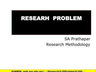 RESEARH   PROBLEM