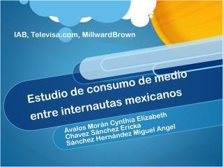 Estudio  de  consumo  de  medio  entre  internautas mexicanos