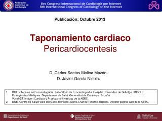 Taponamiento cardiaco  Pericardiocentesis