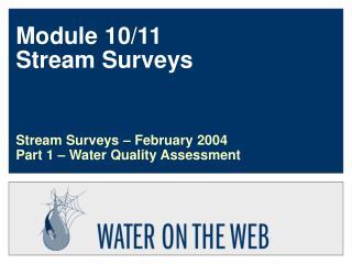 Module 10/11 Stream Surveys