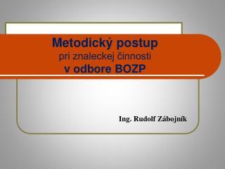 Metodick  postup pri znaleckej cinnosti v odbore BOZP