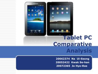 Tablet PC  Comparative   Analysis