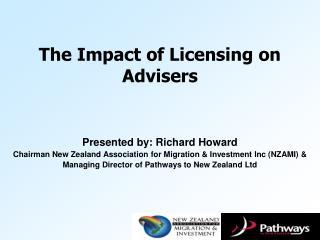 Presented by: Richard Howard