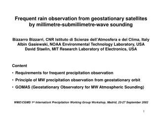 Frequent rain observation from geostationary satellites by millimetre-submillimetre-wave sounding