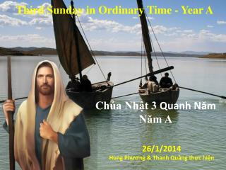 Third Sunday in Ordinary Time  - Year  A