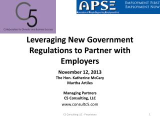 Leveraging New Government Regulations to Partner with Employers