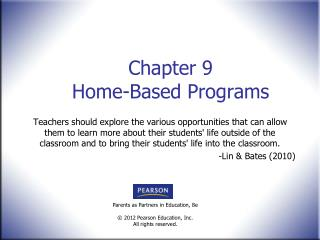 Chapter 9 Home-Based Programs