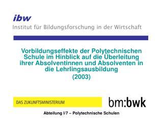 ibw Institut für Bildungsforschung in der Wirtschaft