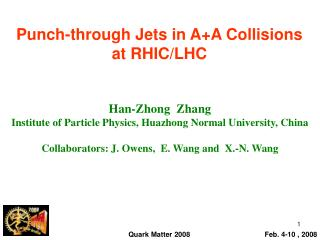 Punch-through Jets in A+A Collisions at RHIC/LHC