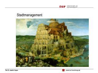Stadtmanagement