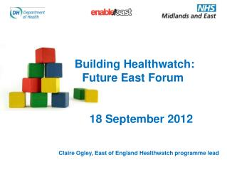 Building Healthwatch:   		Future East Forum 18 September 2012