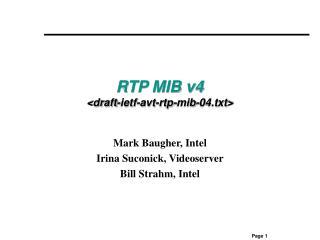 RTP MIB v4 <draft-ietf-avt-rtp-mib-04.txt>