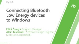 Connecting Bluetooth Low Energy devices  to Windows