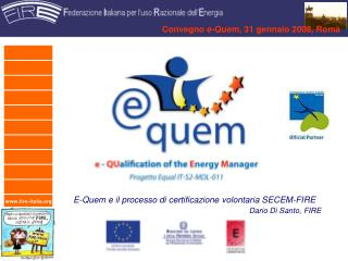 Convegno e-Quem, 31 gennaio 2008, Roma