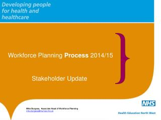 Workforce Planning  Process  2014/15