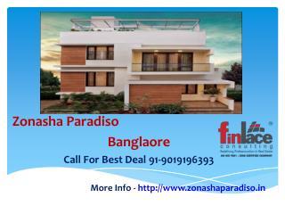 Zonasha Paradiso  New Launch - Marathahalli Bangalore