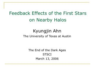 Feedback Effects  of  the First Stars  on Nearby Halos