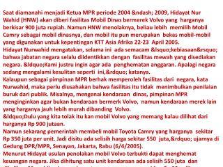 HNW Volvo dan Camry SAIFUL KHALIQ SYAFIUDDIN