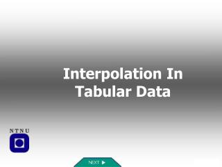 Interpolation In Tabular Data