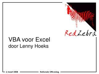 VBA voor Excel door Lenny Hoeks